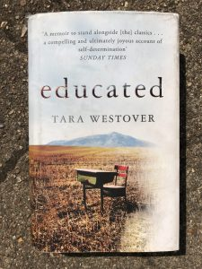 Photo of the book Educated by Tara Westover